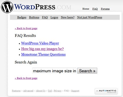 Wordpress FAQ Answers